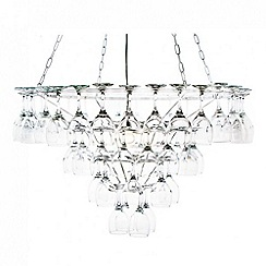 Litecraft - 4 Tier Wine Glass Chandelier - White