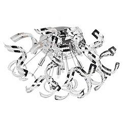 Litecraft - Twirl 6 light semi flush Chrome ceiling light