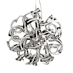 Litecraft - Twirl 6 light semi flush Chrome ceiling pendant