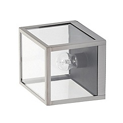 Litecraft - Philips 1 Light Namur Outdoor Wall Lantern - Satin Chrome