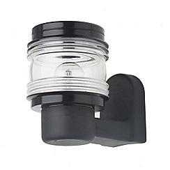 Litecraft - Philips 1 light marine outdoor Black wall lantern