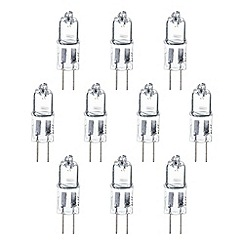 Litecraft - 10 Pack of 20 Watt G4 Halogen Light Bulbs - Clear