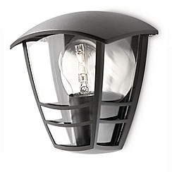 Litecraft - Philips Creek Outdoor Lantern Flush Wall Light - Black