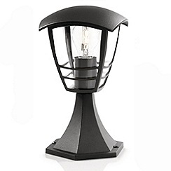 Litecraft - Philips Creek Outdoor Lantern Pedestal Light - Black