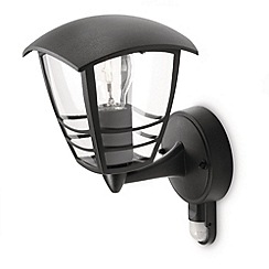 Litecraft - Philips Creek Outdoor Lantern Wall Light with PIR Sensor - Black