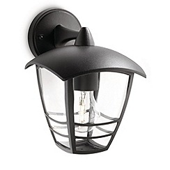 Litecraft - Philips Creek Outdoor Black down lantern wall light