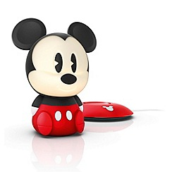 Litecraft - Philips Disney Children's Mickey Mouse led night light table lamp