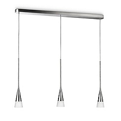 Litecraft - Philips Ecomoods Innery 3 Light Pendant Light - Chrome