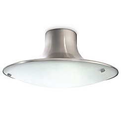 Litecraft - Philips Vigoura Ecomoods Matt Chrome semi-flush ceiling light