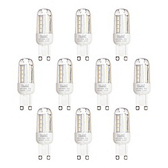 Litecraft - 10 Pack of 2.5 Watt G9 LED Capsule Light Bulb - Warm White
