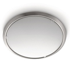 Litecraft - Philips Circle energy saving Nickel flush ceiling light