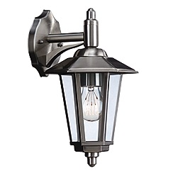 Litecraft - Philips Galveston Stainless Steel outdoor wall down lantern