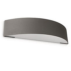 Litecraft - Philips Patch outdoor curved wall light in Dark Grey