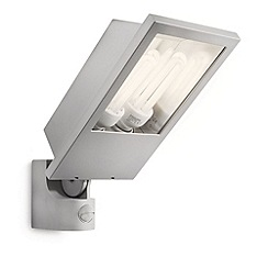 Litecraft - Philips Botanic outdoor energy saving floodlight with pir sensor in Grey