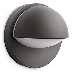Litecraft - Philips June outdoor wall light in Dark Grey