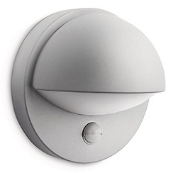 Litecraft - Philips June outdoor wall light with pir sensor in Grey