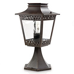 Litecraft - Philips Hedge outdoor Rustic lantern pedestal light