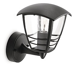 Litecraft - Philips Creek outdoor lantern wall light in Black