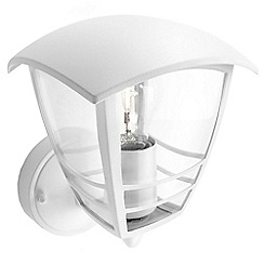Litecraft - Philips Creek outdoor lantern wall light in White