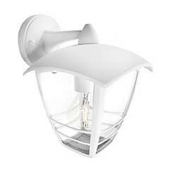 Litecraft - Philips Creek outdoor down lantern wall light in White