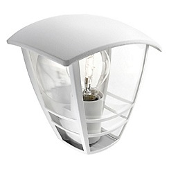 Litecraft - Philips Creek outdoor lantern flush wall light in White