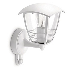 Litecraft - Philips Creek outdoor lantern white wall light with pir sensor