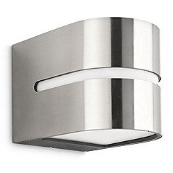 Litecraft - Philips hazel Stainless Steel outdoor up and down wall light