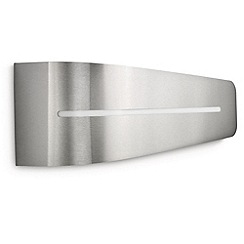 Litecraft - Philips Breeze energy saving outdoor bi-directional wall light in Stainless Steel