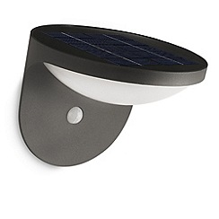 Litecraft - Philips Dusk outdoor wall light with pir sensor in Dark Grey