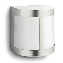 Litecraft - Philips Parrot outdoor led wall light with frosted glass in Stainless Steel