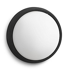 Litecraft - Philips Eagle circular outdoor led wall light in White & Black