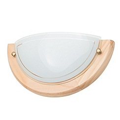 Litecraft - Fergie 1 light crescent Light wood & Opal glass wall light