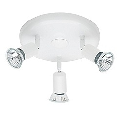 Litecraft - 3 light ceiling White spotlight plate