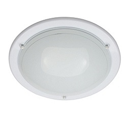 Litecraft - Low energy large round flush White ceiling light