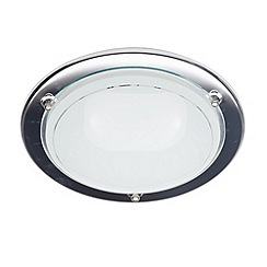 Litecraft - Low energy small round flush Chrome ceiling light