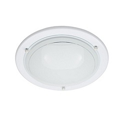 Litecraft - Low energy small round flush White ceiling light