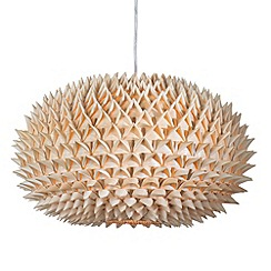 Litecraft - Hedgehog Spikey Ball Easy to Fit Shade - Wood
