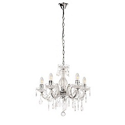 Litecraft - Marie Therese 5 Light Dual Mount Chandelier - Chrome with LED Bulbs