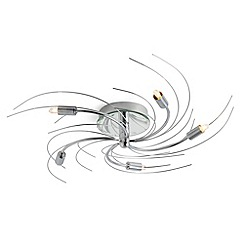 Litecraft - Vortex 5 light semi flush Chrome ceiling light
