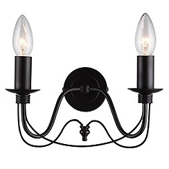 Litecraft - Somerset 2 Black light wall light