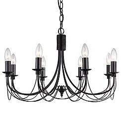 Litecraft - Somerset 8 Black light chandeliers