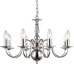 Litecraft - Lyon flemish 8 light polished Nickel chandelier