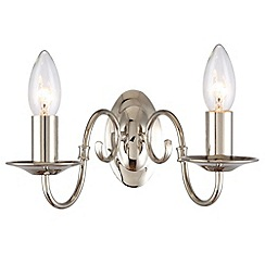Litecraft - Lyon Flemish 2 Polished Nickel light wall light chandelier