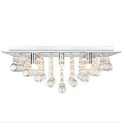 Litecraft - Galaxy 8 light cChrome square flush ceiling light
