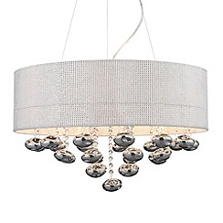 Litecraft - Diamante 8 light mesh Chrome ceiling pendant