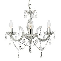 Litecraft - New marie therese 3 light  Clear chandelier