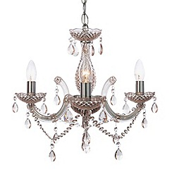 Litecraft - New marie therese 3 light Pink chandelier
