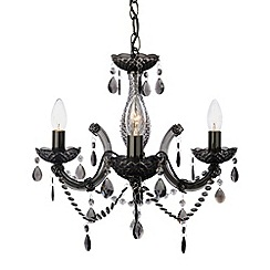 Litecraft - New marie therese 3 light Mmoke chandelier