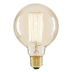 Litecraft - Cage 40 Watt Vintage Globe E27 Edison Screw Light Bulb - Clear