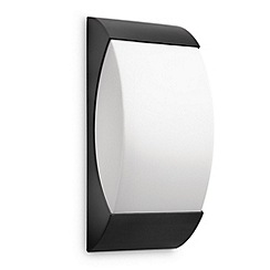 Litecraft - Philips mygarden starry energy saving wall light in Black